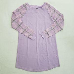 NWT Joe Boxer Long Sleeve Purple Pajama Dress